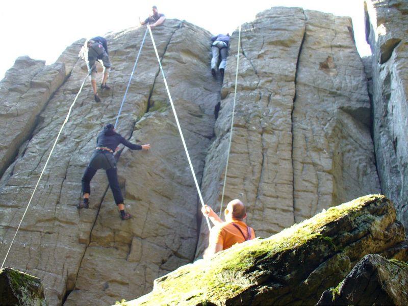 Klettersteig Roen : Klettern für firmen rhön adventures